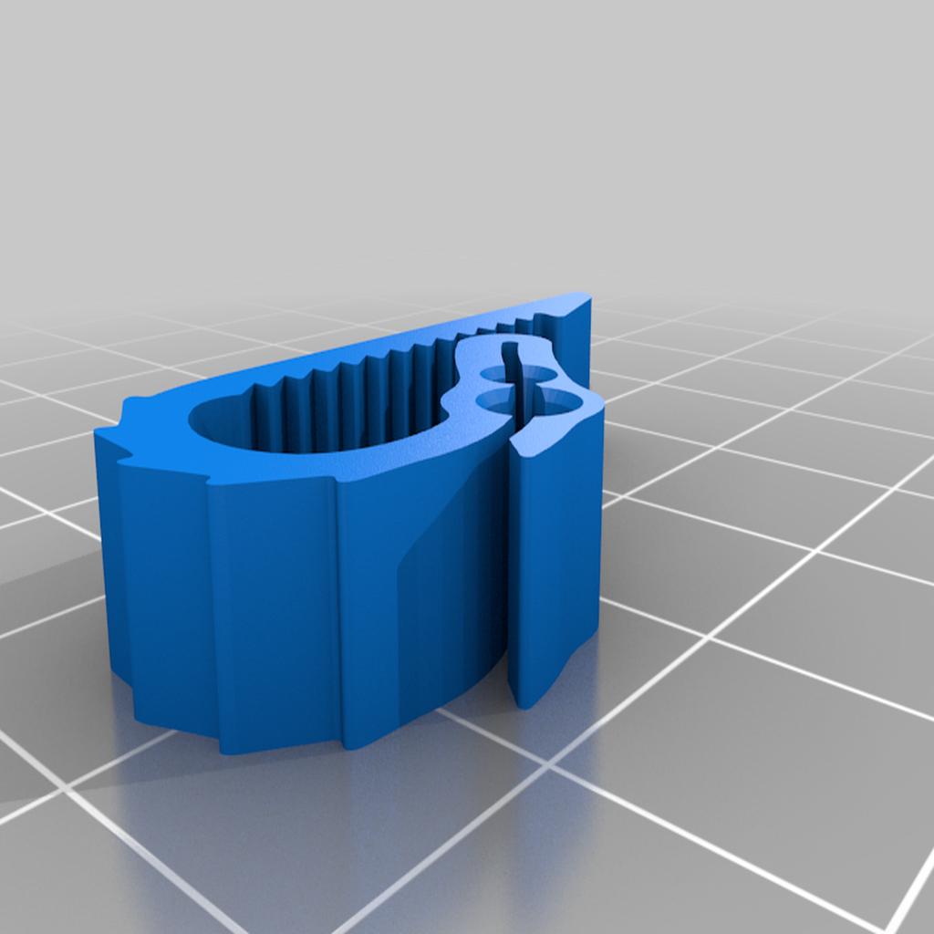 UniversalDualFilamentDragonClip-thick-FullSpikes.png Download free STL file Universal Dual Filament Dragon Clip • 3D printing model, lyl3
