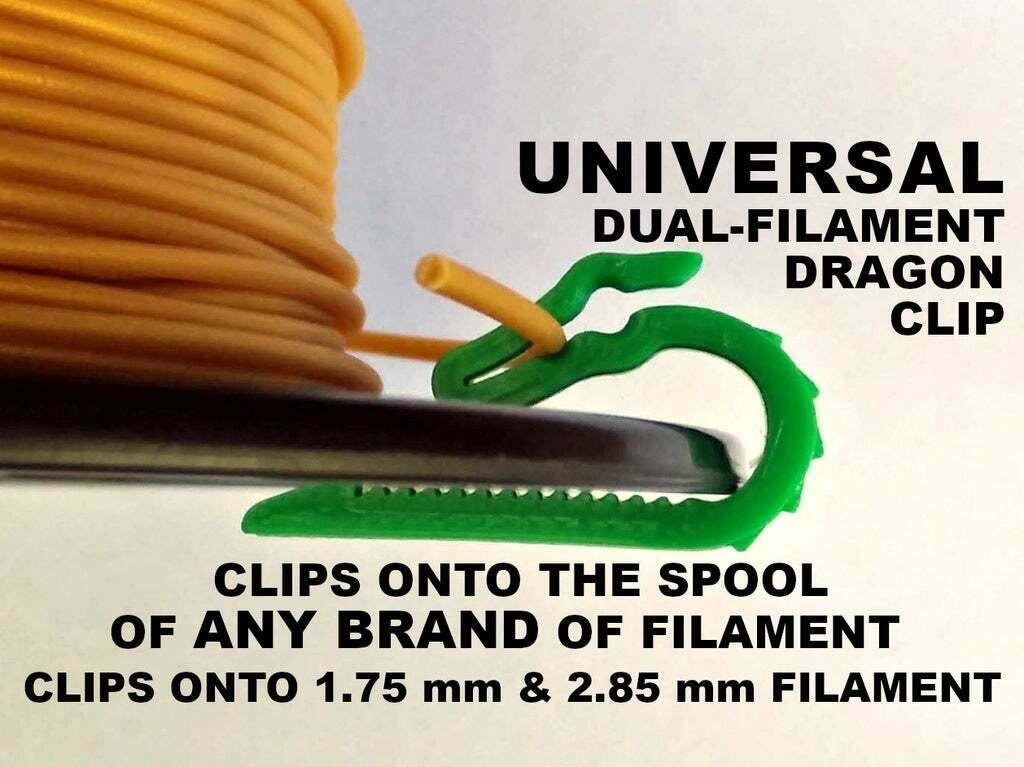 UniversalDualFilamentDragonClip-1258x942.jpg Download free STL file Universal Dual Filament Dragon Clip • 3D printing model, lyl3