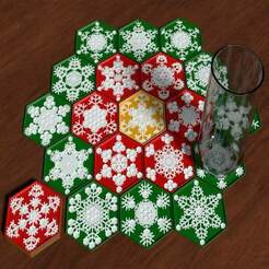 CoasterSnowflakes-cover03-1256x942.jpg Download free STL file Snowflake Coasters • 3D printer design, lyl3