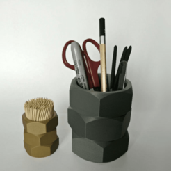 BigNutsCup-TwoSizes-B.png Download free STL file Big Nuts Cup - Pens/Pencils/Tools Holder - Toothpick Holder • 3D print template, lyl3