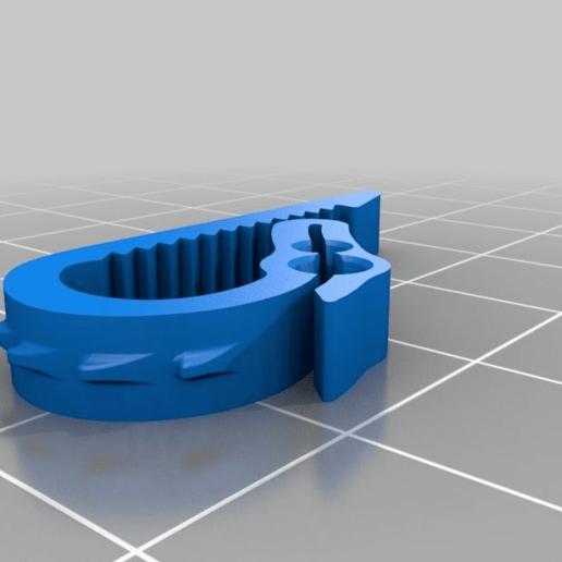 3d8cd9345fd6ed9f4c2aab8c6a553005.png Download free STL file Universal Dual Filament Dragon Clip • 3D printing model, lyl3