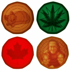 Coasters-Backlit.png Download free SCAD file Hidden Internal Lithophane Coasters • 3D print design, lyl3