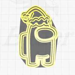 17.png Télécharger fichier STL Le Père Noël parmi nous Coupeur de biscuits • Plan imprimable en 3D, SuleymanAydin