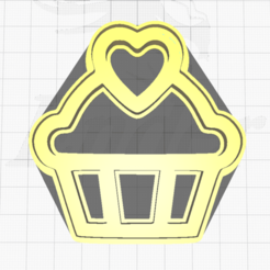 1.png Download STL file Cupcake Cookie Cutter • 3D printing object, SuleymanAydin