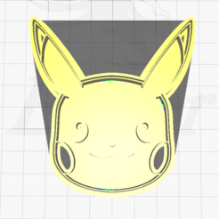 1.png Télécharger fichier STL Pikachu Face Cookie Cutter • Design pour imprimante 3D, SuleymanAydin