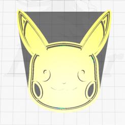 1.png Download STL file Pikachu Face Cookie Cutter • 3D print design, SuleymanAydin
