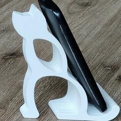 arv-kat-v4 v4 IMG_20201223_144344618.jpg Download STL file Cat Phone-holder • 3D printer model, celisk