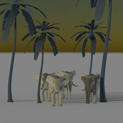 untitled.70.jpg Download STL file Low Poly Elephant Print - METELER 3D • 3D print template, Meteler3d