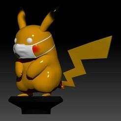 pikachu 2.jpg Download STL file Covid Pikachu STL - METELER 3D • 3D printable model, Meteler3d