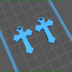 screenShot_cross_1.png Télécharger fichier STL boucles d'oreilles croisées 1 • Objet pour impression 3D, rebeccaljones