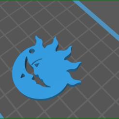 screenShot_sun_moon.png Download STL file sun moon earrings   • 3D print template, rebeccaljones