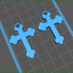 screenShot_cross_2.png Télécharger fichier STL croiser 2 boucles d'oreilles • Modèle pour impression 3D, rebeccaljones