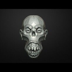 51.63.jpg Download STL file Scull Scary Scull Decor on wall fridge magnet 3D print model • 3D printer object, Maskitto
