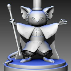 dorime.jpg Download STL file ratinho dorime/ little mouse dorime • Object to 3D print, 3Dmoonn