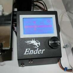 LCD_Cover_picture.JPG Télécharger fichier STL gratuit Couvercle LCD avec fixation pour Comgrow Creality Ender 3 • Objet imprimable en 3D, BenjiP