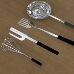 untitled.181.png Télécharger fichier STL louche + cuillère + mixer • Design imprimable en 3D, ibrahimmohamed