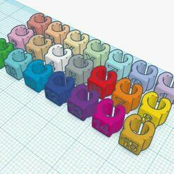Resizable Cabel Labels.JPG Download free STL file Resizable Cable Labels Set • 3D printer template, Botcan