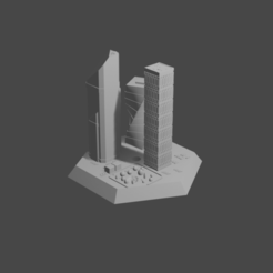 hexsky.png Download STL file Hex with a skyscraper • 3D print design, Morita550bw