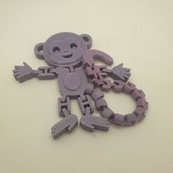 Download free STL file Flexi Articulated Monkey • 3D printable template, Remrafs