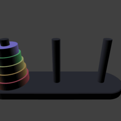 towers_hanoi.png Download STL file Towers of Hanoi game • 3D printable object, dawnsingleton