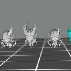 Daemonette_heads.jpg Download free STL file Super-Sexy Demon lady head Alternatives • 3D printable object, TaterBeard