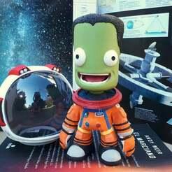 main.jpg Download free OBJ file Jebediah Kerman (Kerbal Space Program) (IVA suit) • 3D print template, devanborkhatria