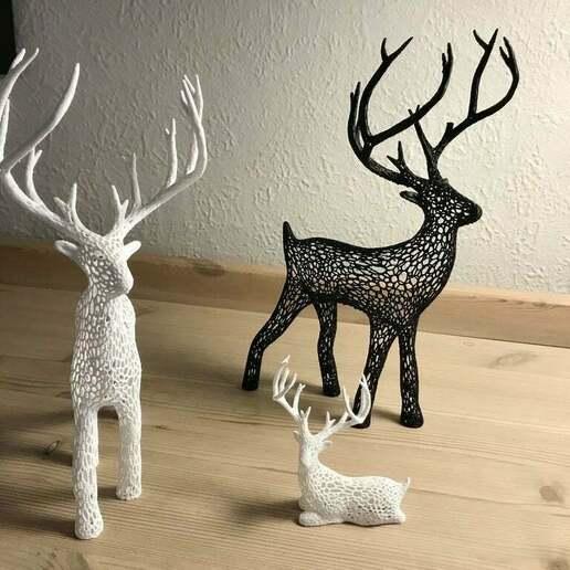 IMG_5121_2.JPG Download free STL file Deer Voronoi • Model to 3D print, tamashi