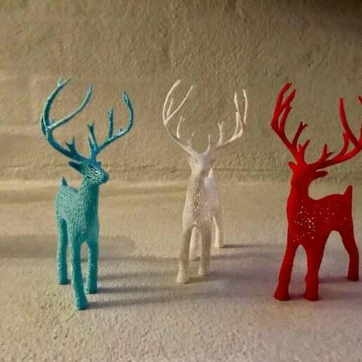 IMG_5143_2.JPG Download free STL file Deer Voronoi • Model to 3D print, tamashi