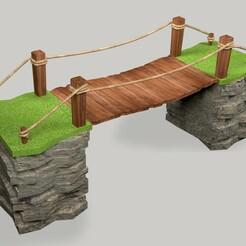 Bridge_render01.jpg Download OBJ file Bridge 3d model & 3dprint • 3D printable model, YS_creations