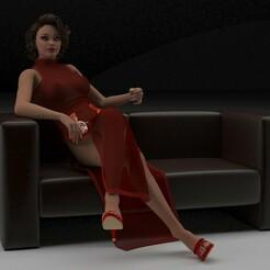 1.jpg Télécharger fichier OBJ fille • Objet pour impression 3D, lekimika