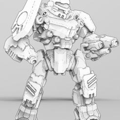 front render.PNG Download free STL file Mordred BLK-NT-5K for American Mecha Wargame • 3D printing design, Some_Assembly_Required