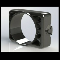 106gti.JPG Télécharger fichier STL PEUGEOT106 GAUGE POD (AEM WIDEBAND) 52 MM (SUPPORT DE VENTILATION) • Modèle à imprimer en 3D, bilenomer