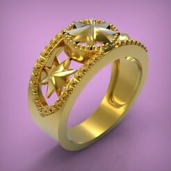 untitled.287.jpg Download STL file Ring Star • 3D printing model, yka4aka