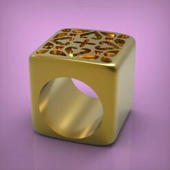 untitled.289.jpg Download STL file Ring cube • 3D printing design, yka4aka
