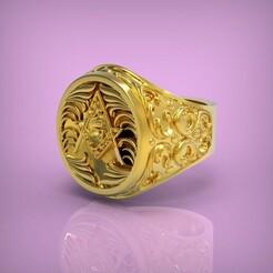 untitled.283.jpg Download STL file Ring • 3D print model, yka4aka