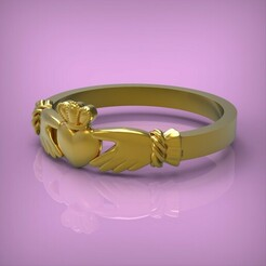 untitled.291.jpg Download OBJ file Ring heart • Model to 3D print, yka4aka
