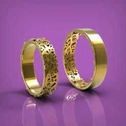 обручалки с цветами (рендер).299.jpg Download STL file Wedding rings • 3D print design, yka4aka