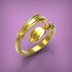 untitled.272.jpg Download STL file Ring Fork • Template to 3D print, yka4aka