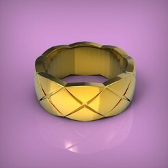 untitled.269.jpg Download STL file Ring copy Chanel • Template to 3D print, yka4aka