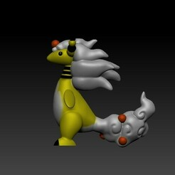 MA 1.jpg Download OBJ file Pokémon: Mega Ampharos • Object to 3D print, Zuha