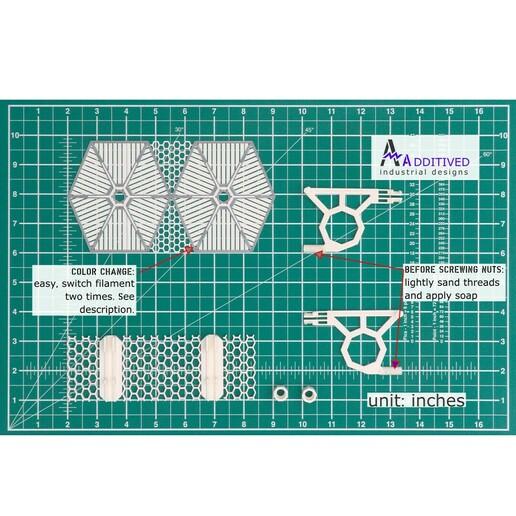 4_overview_IN.jpg Download STL file TIE Fighter Bathroom Shelf • 3D printer model, AdditivedIndDesigns
