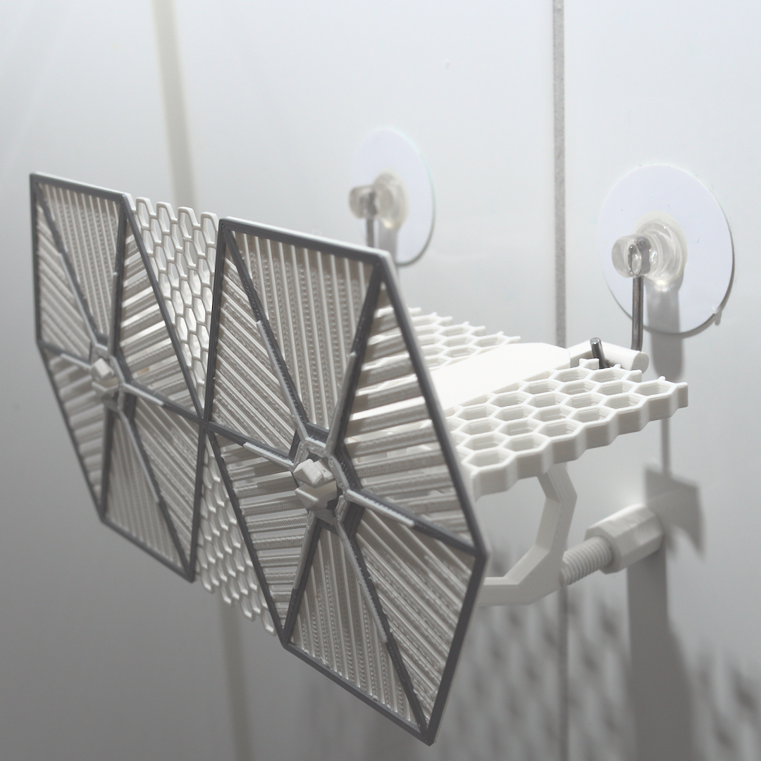 1_pic1.jpg Download STL file TIE Fighter Bathroom Shelf • 3D printer model, AdditivedIndDesigns