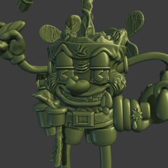 captain6.png Download STL file Captain Cannabis! • 3D printable design, ItsACockWorldAfterall