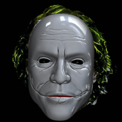 joker4.png Télécharger fichier STL Masque du joker du Heath Ledger • Design imprimable en 3D, ItsACockWorldAfterall