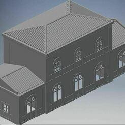 Estacion_IllescasJPG.JPG Télécharger fichier STL gratuit Station Illescas pour le modèle à l'échelle N • Modèle imprimable en 3D, bartologordito