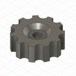 KTM-WP-Forks-tuning-screw-01.png Download STL file KTM Motorcycle WP Front Forks tuning screw nut • Template to 3D print, kenny8
