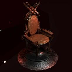 render_cadeira_v1.jpg Download STL file Old Rustic Molded Chair • 3D printer model, HenriquePrado