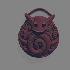 Gathering Swarm Colour.png Download OBJ file Gathering Swarm Charm Hollow Knight • Model to 3D print, Cornered_Circle