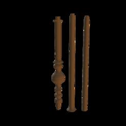 McGonagalls Wand.png Télécharger fichier OBJ Baguette de Minerva McGonagall • Modèle pour imprimante 3D, Cornered_Circle