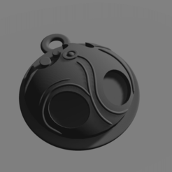 Void Heart Charm Black.png Download OBJ file Void Heart Charm Hollow Knight • 3D printable model, Cornered_Circle